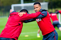 Martin Olsson  in action during the Swansea City training session at The Fairwood training Ground, Swansea, Wales, UK. Wednesday 13 September 2017