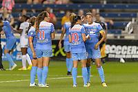 Chicago, IL - Wednesday Sept. 07, 2016: Christen Press, Vanessa DiBernardo during a regular season National Women's Soccer League (NWSL) match between the Chicago Red Stars and FC Kansas City at Toyota Park.