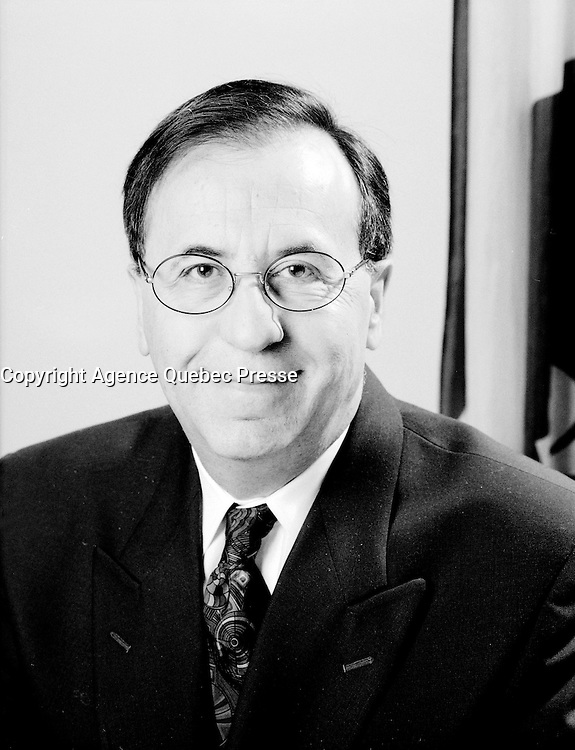 Montreal (QC) CANADA - Jan 16 1997 file photo -  Andre Boulerice in his office