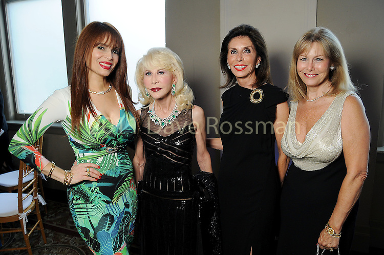 From left: Karina Barbieri, Diane Lokey Farb, Judith Oudt and Cheryl Byington at the Houston Symphony Opening Night Champagne at The Corinthian Saturday Sept. 12,2015.(Dave Rossman photo)