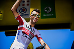 Fabio Aru (ITA) UAE Team Emirates at sign on before Stage 10 of the 2019 Tour de France running 217.5km from Saint-Flour to Albi, France. 15th July 2019.<br /> Picture: ASO/Pauline Ballet | Cyclefile<br /> All photos usage must carry mandatory copyright credit (© Cyclefile | ASO/Pauline Ballet)