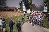 peloton topping the Zwarte Berg / Mont Noir<br /> <br /> 81st Gent-Wevelgem in Flanders Fields (1.UWT)<br /> Deinze > Wevelgem (251km)
