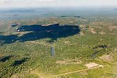 Pará State, Brazil. Aerial view of Moikarako village (Kayapo).