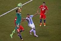 Action photo during the match Argentina vs Chile corresponding to the Final of America Cup Centenary 2016, at MetLife Stadium.<br /> <br /> Foto durante al partido Argentina vs Chile cprresponidente a la Final de la Copa America Centenario USA 2016 en el Estadio MetLife , en la foto:Claudio Bravo<br /> <br /> <br /> 26/06/2016/MEXSPORT/JAVIER RAMIREZ