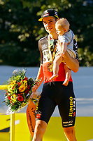 18th July 2021; Paris, France;  VAN AERT Wout (BEL) of JUMBO-VISMA podium during stage 21 of the 108th edition of the 2021 Tour de France cycling race, the stage of 108,4 kms between Chatou and finish at the Champs Elysees in Paris.