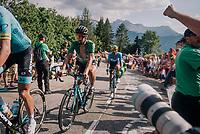 """Peter Sagan (SVK/Bora-Hansgrohe) coming through """"Dutch Corner"""" (#7) on Alpe d'Huez<br /> <br /> Stage 12: Bourg-Saint-Maurice / Les Arcs > Alpe d'Huez (175km)<br /> <br /> 105th Tour de France 2018<br /> ©kramon"""