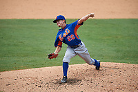 Pitcher Grant Stewart (26) of Paxton School in Paxton, Florida playing for the New York Mets scout team during the East Coast Pro Showcase on July 30, 2015 at George M. Steinbrenner Field in Tampa, Florida.  (Mike Janes/Four Seam Images)