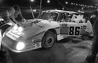 The #86 Porsche 935-80 of Al Holbert, Claude Ballot-Lena, Hurley Haywood, and Bruce Leven makes a pit stop  en route to a 4th place finish in the SunBank 24 at Daytona, Daytona International Speedway, Daytona Beach, FL, Feb. 4-5, 1984. (Photo by Brian Cleary/www.bcpix.com)