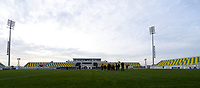 20180228 - LARNACA , CYPRUS :  illustration picture shows the stadium before  a women's soccer game between Spain and the Belgian Red Flames , on friday 2 March 2018 at the AEK Arena in Larnaca , Cyprus . This is the second  game in group B for  Belgium during the Cyprus Womens Cup , a prestigious women soccer tournament as a preparation on the World Cup 2019 qualification duels. PHOTO SPORTPIX.BE | DAVID CATRY