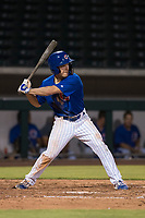AZL Cubs 1 center fielder Dalton Hurd (30) at bat during an Arizona League game against the AZL Reds at Sloan Park on July 13, 2018 in Mesa, Arizona. The AZL Cubs 1 defeated the AZL Reds 4-1. (Zachary Lucy/Four Seam Images)