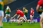 Dara Moynihan, Kerry in action against Mattie Taylor, Cork, during the Munster GAA Football Senior Championship Semi-Final match between Cork and Kerry at Páirc Uí Chaoimh in Cork.