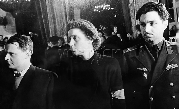 Svetlana Alliluyeva during the funeral ceremony for Joseph Stalin her father. 7 March 1953
