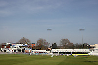 General view of the Ford County Ground as play takes place on a pleasant spring day - Essex CCC vs Surrey CCC - Friendly Cricket Match at the Ford County Ground, Chelmsford, Essex - 22/03/12 - MANDATORY CREDIT: Gavin Ellis/TGSPHOTO - Self billing applies where appropriate - 0845 094 6026 - contact@tgsphoto.co.uk - NO UNPAID USE.