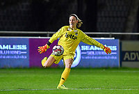 goalkeeper Ambre Collet (1 Charleroi) pictured during a female soccer game between  AA Gent Ladies and Sporting Charleroi Feminin on the fifth matchday of the 2020 - 2021 season of Belgian Scooore Womens Super League , friday 16 th of October 2020  in Oostakker , Belgium . PHOTO SPORTPIX.BE   SPP   DAVID CATRY