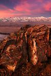 Limestone outcropping, Inyo Valley, Sierra Nevada Mountains, California