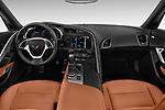 Stock photo of straight dashboard view of a 2019 Chevrolet Corvette Stingray Coupe 2LT 3 Door Targa