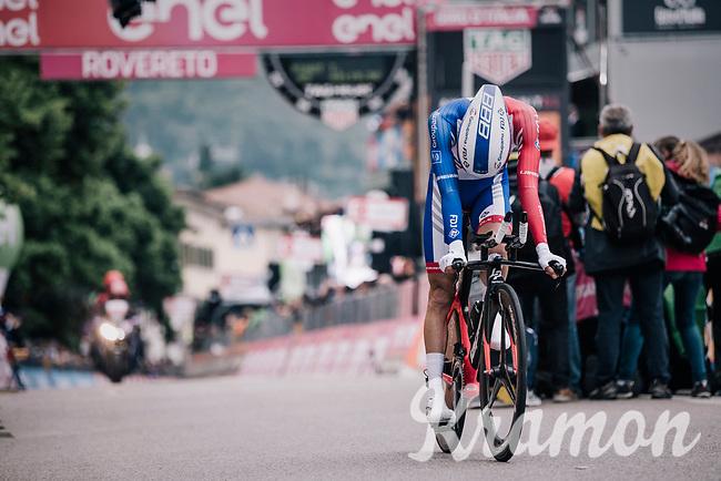 Thibaut Pinot (FRA/Groupama-FDJ) crossing the finish line<br /> <br /> stage 16: Trento – Rovereto iTT (34.2 km)<br /> 101th Giro d'Italia 2018