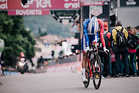 Thibaut Pinot (FRA/Groupama-FDJ) crossing the finish line<br /> <br /> stage 16: Trento – Rovereto iTT (34.2 km)<br /> 101th Giro d'Italia 2018