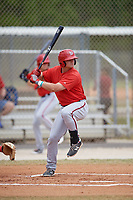 Washington Nationals Sheldon Neuse (17) at bat during a minor league Spring Training game against the St. Louis Cardinals on March 27, 2017 at the Roger Dean Stadium Complex in Jupiter, Florida.  (Mike Janes/Four Seam Images)