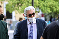 Pictured: Thanassis Charmanis, the solicitor representing the family of Caroline Crouch arrives at the magistrate's court in Athens, Greece. Tuesday 22 June 2021<br /> Re: Charalambos (Babis) Anagnostopoulos, the husband of Caroline Crouch, who was killed in front of her 11 month old daughter is due to appear before a Magistrate, after being charged with her murder at their home in Glyka Nera, near Athens, Greece.<br /> The woman, 20, was allegedly first tortured and then strangled to death.