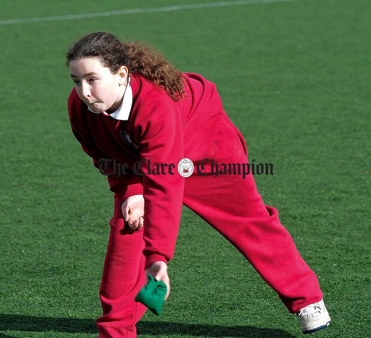 Alannah Clancy of St Conaires NS Shannon taking part in a Sportathon.Pic Arthur Ellis.