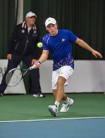 18-01-14,Netherlands, Rotterdam,  TC Victoria, Wildcard Tournament,    Alban Meuffels (NED)<br /> Photo: Henk Koster
