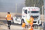 Czech driver Frantisek Vojtisek belonging Czech team Czech Truck Racing Team during the fist race R1 of the XXX Spain GP Camion of the FIA European Truck Racing Championship 2016 in Madrid. October 01, 2016. (ALTERPHOTOS/Rodrigo Jimenez)