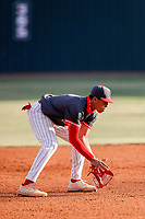 Baylor Red Raiders shortstop Daniel Corona (3) on defense against the Farragut Admirals on John Heatherly Field on April 30, 2021, in Knoxville Tennessee. (Danny Parker/Four Seam Images)