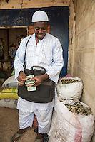 Cashew Nut Buyer Counting his Money, Fass Njaga Choi, The Gambia