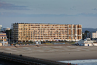 A block of seaside flats in Calais, France. Wednesday 04 September 2019