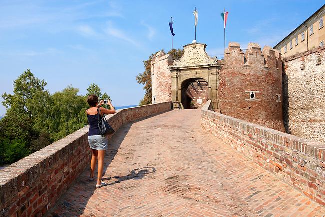 Entrance of Siklos castle ( siklosi var) near Villany, Hungary