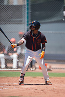 San Francisco Giants Black left fielder Christopher Burks (22) at bat during an Extended Spring Training game against the Los Angeles Angels at the San Francisco Giants Training Complex on May 25, 2018 in Scottsdale, Arizona. (Zachary Lucy/Four Seam Images)