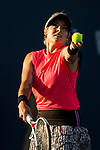 July 30, 2019: Bethanie Mattek-Sands (USA) in action where she defeated Venus Williams (USA) 6-7, 6-3, 6-1 in the first round of the Mubadala Silicon Valley Classic at San Jose State in San Jose, California. ©Mal Taam/TennisClix/CSM