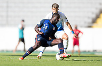GUADALAJARA, MEXICO - MARCH 18: Benji Michel #14 of the United States turns with the ball during a game between Costa Rica and USMNT U-23 at Estadio Jalisco on March 18, 2021 in Guadalajara, Mexico.