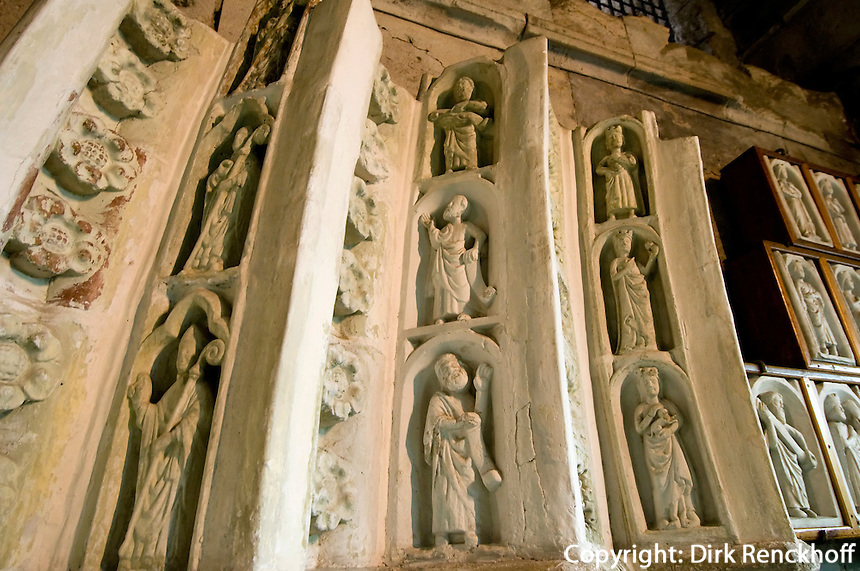 Zypern (Süd), Burg-Museum in Limassol (Lemesos), Gipsmodell Detail lateinische Kathedrale
