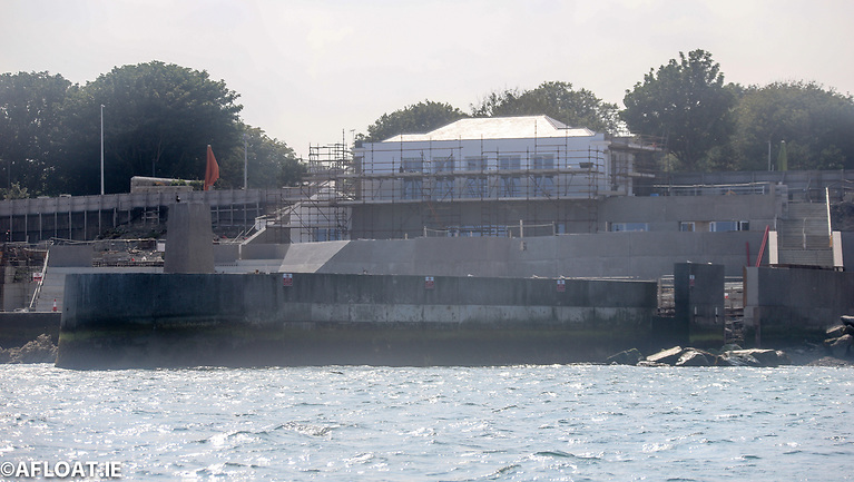 Dun Laoghaire Baths The old Pavilion building has been stabilised enclosed and is now fully weathered.
