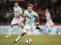 Calcio, Serie A: Roma, stadio Olimpico, 20 settembre 2017.<br /> Lazio's Ciro Immobile in action during the Italian Serie A football match between Lazio and Napoli at Rome's Olympic stadium, September 20, 2017.<br /> UPDATE IMAGES PRESS/Isabella Bonotto
