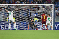 Filip Djuricic of US Sassuolo scores the goal of 1-1 during the Serie A football match between AS Roma and US Sassuolo at Olimpico stadium in Rome (Italy), September 12th, 2021. Photo Antonietta Baldassarre / Insidefoto