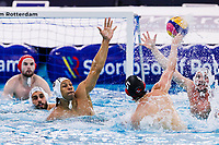 20-02-2021: Waterpolo: France v Canada: Rotterdam<br /> <br /> ROTTERDAM, NETHERLANDS - FEBRUARY 20: Thomas Vernoux of France, Mark Spooner of Canada during the Olympic Waterpolo Qualification Tournament 2021 match between France and Canada at Zwemcentrum Rotterdam on February 20, 2021 in Rotterdam, Netherlands (Photo by Marcel ter Bals/Orange Pictures)