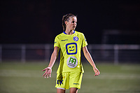 Shari Van Belle (8) of AA Gent pictured during a female soccer game between  Racing Genk Ladies and AA Gent Ladies ,  on the 6 th  matchday of the 2021-2022 season of the Belgian Scooore Womens Super League , friday 8 october 2021  in Genk , Belgium . PHOTO SPORTPIX | JILL DELSAUX