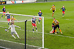 Josh Magennis scores his second equalising goal of the night to make the score 2-2. Hull 2 Sunderland 2, League One 20th April 2021.