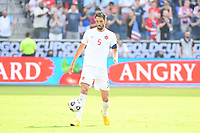 KANSAS CITY, KS - JULY 18: Steven Vitoria #5 of Canada during a game between Canada and USMNT at Children's Mercy Park on July 18, 2021 in Kansas City, Kansas.
