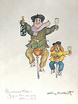 Example Watercolor/Man and Dog on Bikes