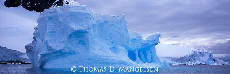 Iceberg off the coast of Cuverville Island, Antarctic Peninsula.