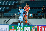 Jiangsu FC Midfielder Ramires Santos (L) fights for the ball with Jeju United FC Midfielder Lee Chandong during the AFC Champions League 2017 Group H match between Jeju United FC (KOR) vs Jiangsu FC (CHN) at the Jeju World Cup Stadium on 22 February 2017 in Jeju, South Korea. Photo by Marcio Rodrigo Machado / Power Sport Images