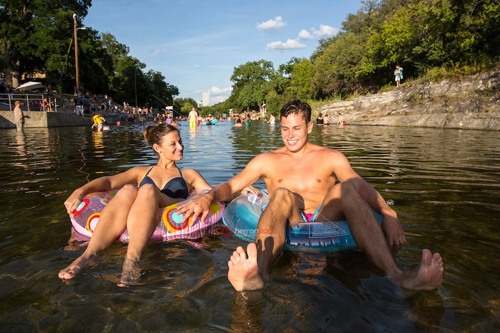 Within Zilker Park's 358 acres lies one of the crown jewels of Austin - Barton Springs Pool. The pool itself measures three acres in size, and is fed from underground springs with an average temperature of 70 degrees, ideal for year-round swimming. Over the years, Barton Springs Pool has drawn people from all walks of life, from legislators who have concocted state laws there to free-spirited, topless sunbathers who turned heads in the 1970s. Robert Redford learned to swim at the pool when he was five years old while visiting family in Austin. Today, Barton Springs still attracts a diverse crowd of people and has seen record setting numbers of visitors nearing 800,000 in recent years.