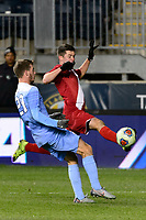 Chester, PA - Friday December 08, 2017: Austin Panchot The Indiana Hoosiers defeated the North Carolina Tar Heels 1-0 during an NCAA Men's College Cup semifinal soccer match at Talen Energy Stadium.