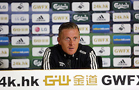 Pictured: Manager Garry Monk.Thursday 14 August 2014<br />