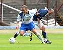 08/08/2009  Copyright  Pic : James Stewart.sct_15_dundee_v_morton  .PETER WEATHERSON GETS AWAY FROM COLIN CAMERON....James Stewart Photography 19 Carronlea Drive, Falkirk. FK2 8DN      Vat Reg No. 607 6932 25.Telephone      : +44 (0)1324 570291 .Mobile              : +44 (0)7721 416997.E-mail  :  jim@jspa.co.uk.If you require further information then contact Jim Stewart on any of the numbers above.........