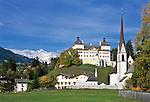 Italy, Alto Adige-Trentino (South-Tyrol), Val Ridanna, Mareta with Castle Wolfsthurn | Italien, Suedtirol, Ridnauntal, Mareit mit Jagdschloss Wolfsthurn